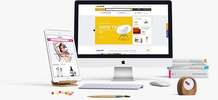 Xây dựng giao diện website chuẩn SEO đầy đủ tiện ích.