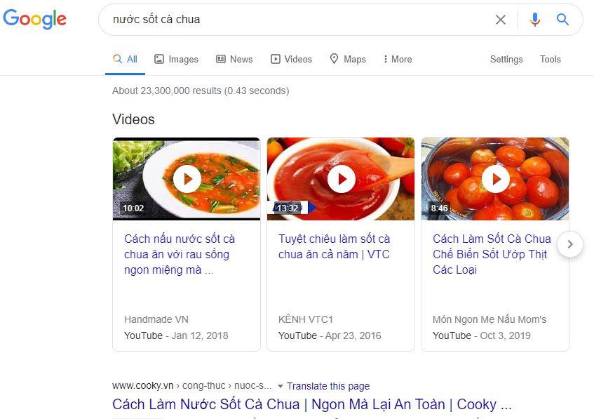 cách nấu nước sốt cà chua